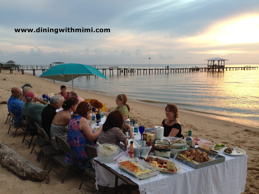 Dining With Mimi on the beach www.diningwithmimi.com