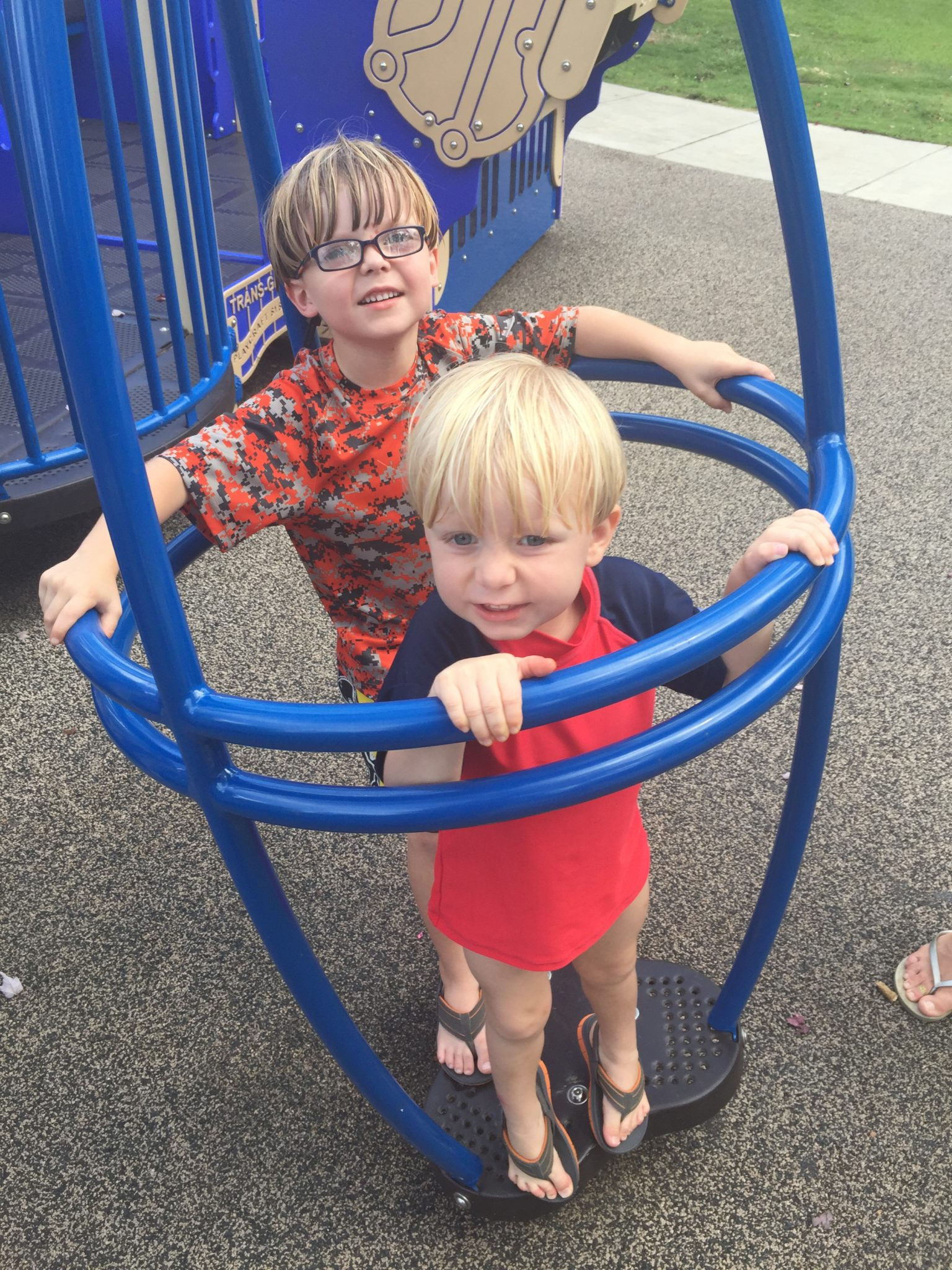 At the Fairhope Park with Ireland and Graydon