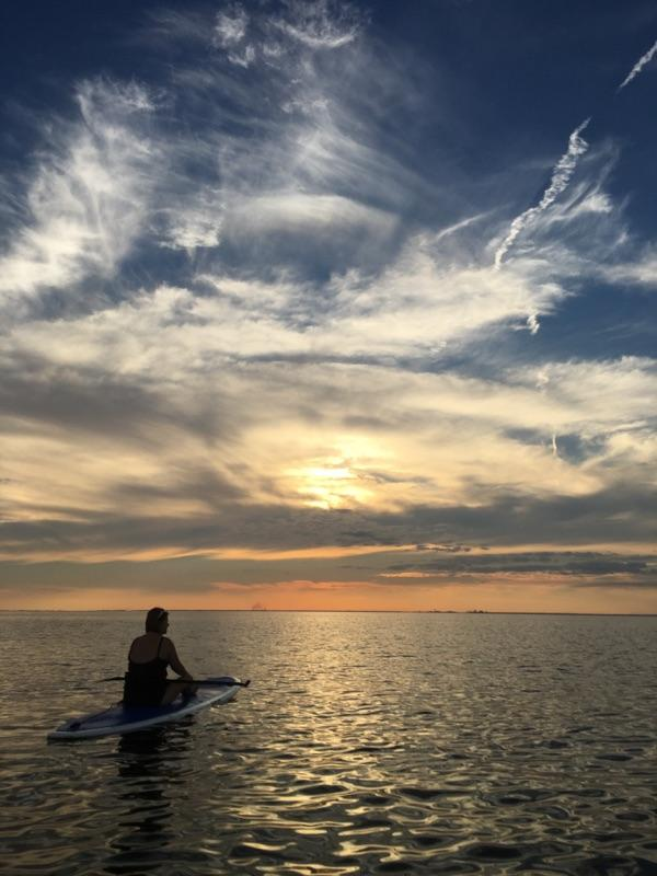 Sunset on Mobile Bay Photo by Robin Claudio