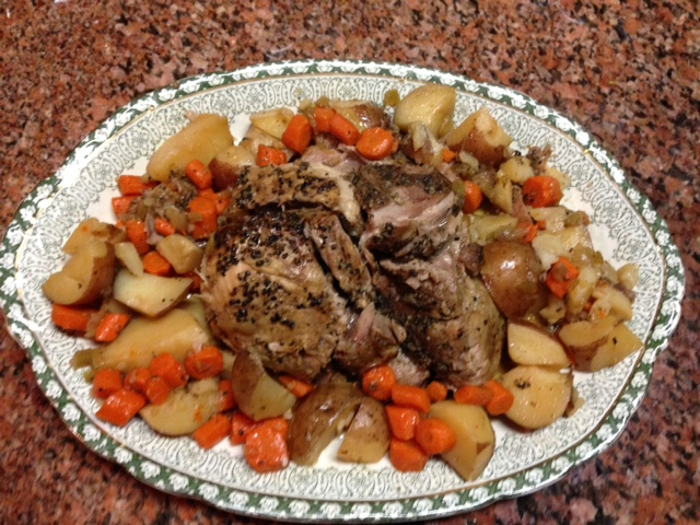 Platter of Roast, Carrots and Potatoes