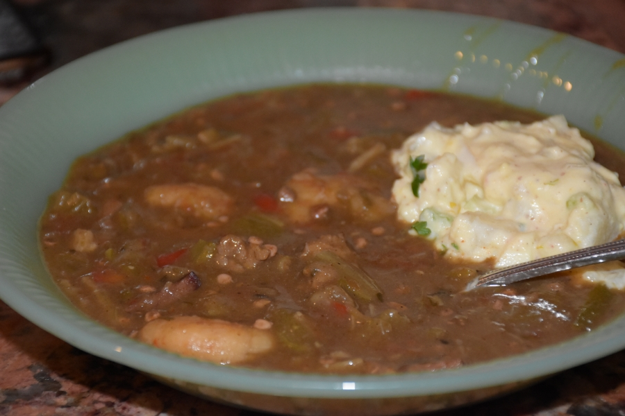 Learn to make Shrimp Sausage Gumbo like you were born there www.diningwithmimi.com