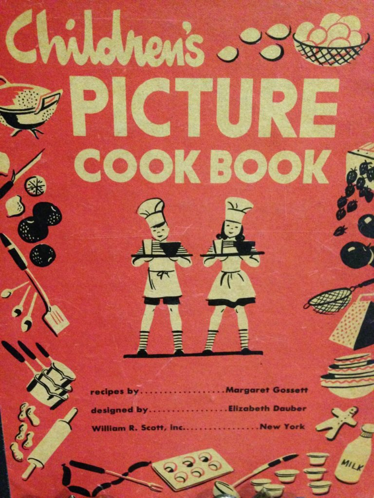 Childrens Picture Cookbook 1944 Edition