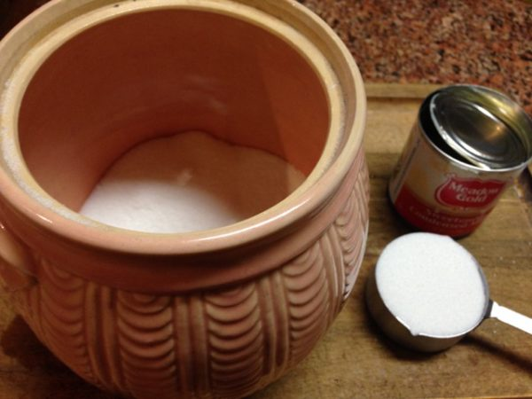 Shawnee Pottery Sugar Canister with Sweetened Condensed Milk