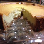 St Germain Cheesecake on my favorite Antique Square Cake Plate