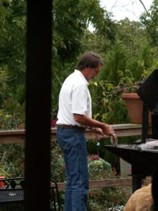 Handsome Man at Large outdoor grill