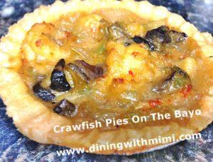 Crawfish pies On The Bayo www.diningwithmimi.com