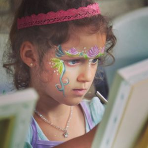 Painting in Tutus with Serious artist