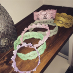 Lace Headbands waiting for a princess