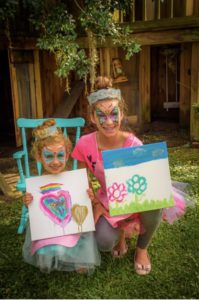 Artists showing their Paint in Tutus art work