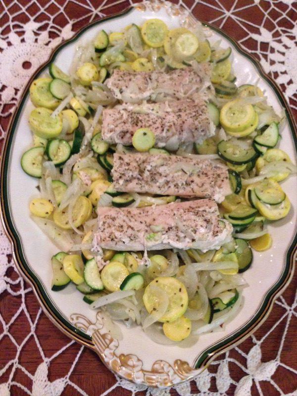 Yellow Squash, Zucchini and Fish