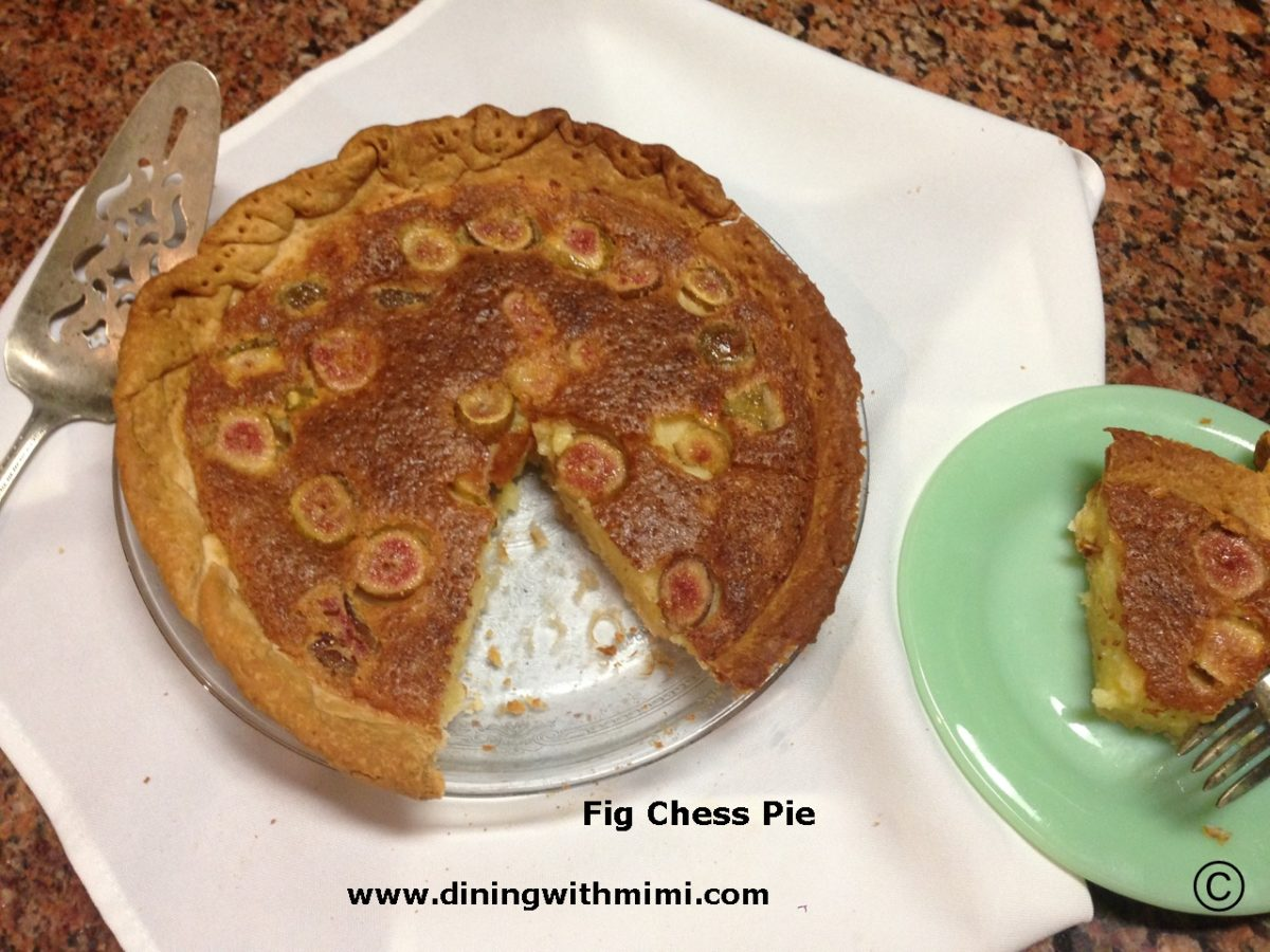 Fig Chess Pie Recipe
