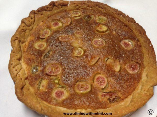 Fig Chess Pie www.diningwithmimi.com