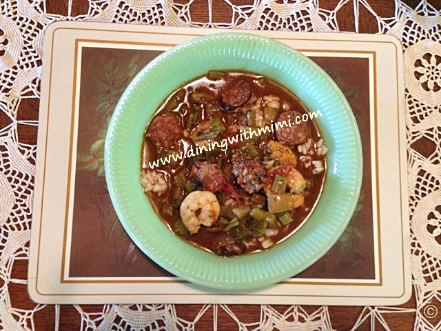 Seafood and Sausage Gumbo Throw a party Laissez les bon temps rouler www.diningwithmimi.com