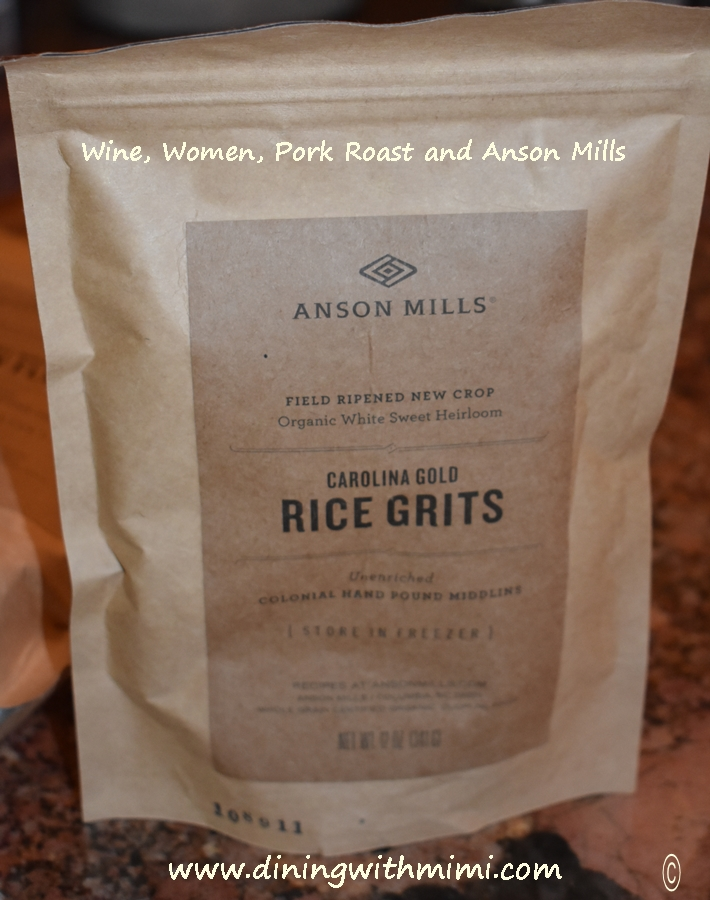 Anson Mills- Check out www.diningwithmimi.com Wine, Women, Pork Roast and Anson Mills