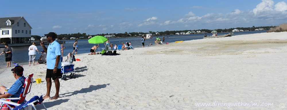 Families enjoying the beach in water, fishing, paddling Picnic packed for a Picnic Worthy Roasted Poblano Corn Salad www.diningwithmimi.com