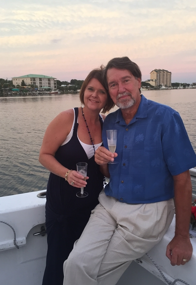 Mimi and Poppi on boat in Destin Love Here and Loves From Afar www.diningwithmimi.com