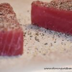 Raw Ahi tuna for Seasoned Ahi Tuna Steaks Sear Then Flip Recipe www.diningwithmimi.com