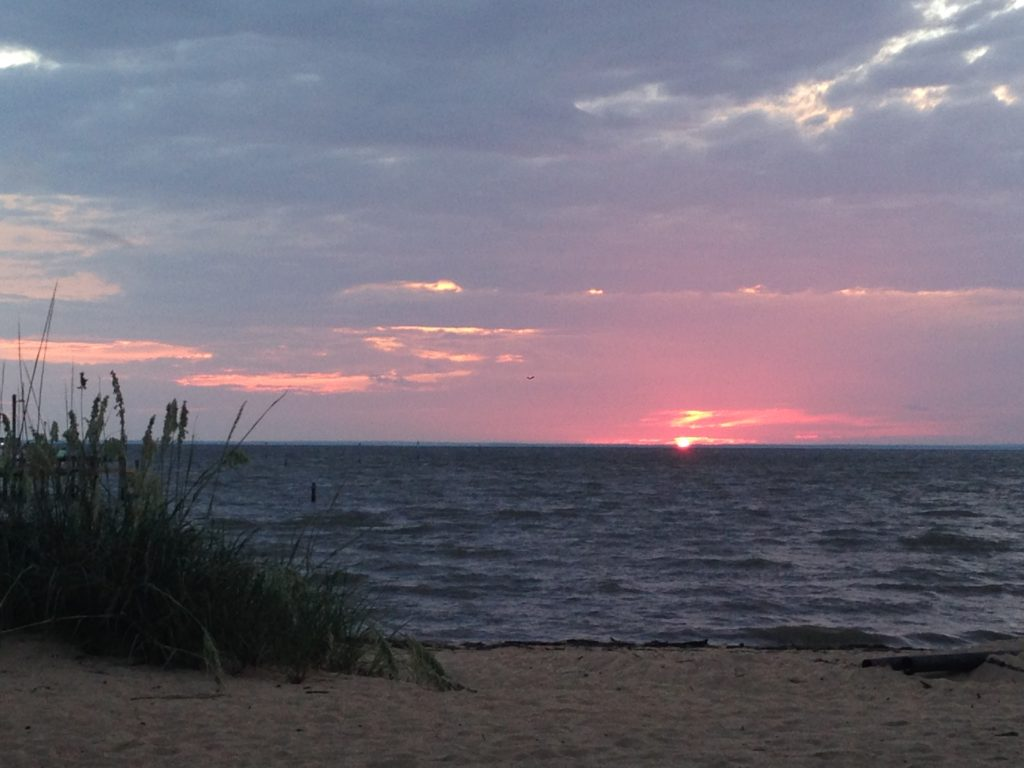 Sunset at End of Paddle Paddle with Fairhope Paddle Group www.diningwithmimi.com