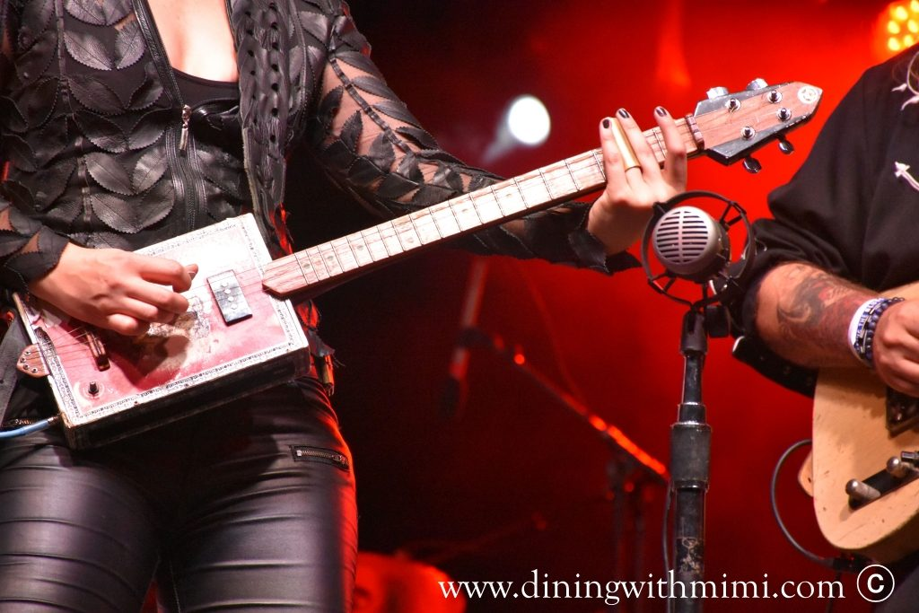 Cigar Box Guitar and Brains, Beauty and Slaying a Guitar as Samantha Fish www.diningwithmimi.com