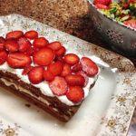 Platter Holding Chocolate & Strawberry Dessert Recipe Favorite Dining WIth Mimi's Favorite Dessert Recipes www.diningwithmimi.com