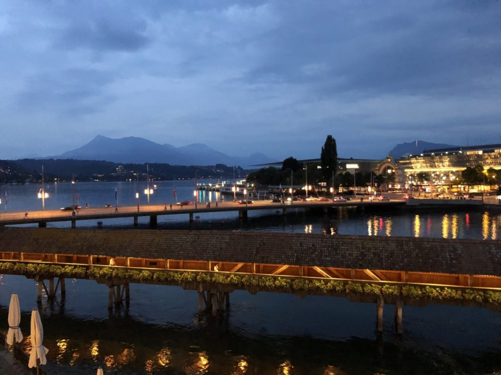 Evening view Luzern Lucerne How I love thee Let me count the ways www.diningwithmimi.com