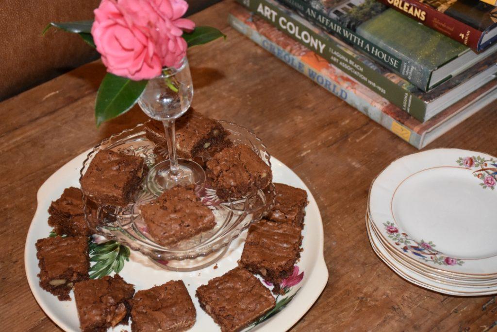 Mimis Nutty Fudgy Indulgent Mint Chocolate Brownies www.diningwithmimi.com