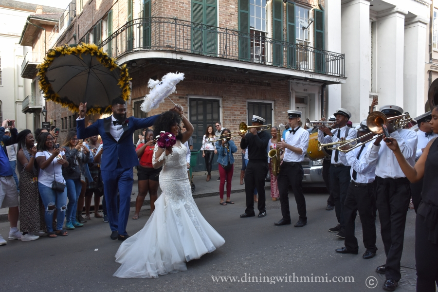 New Orleans Wedding in the street www.diningwithmimi.com