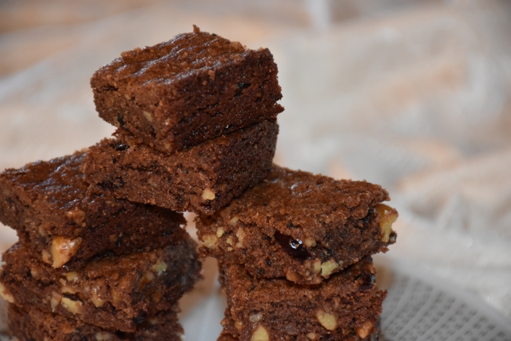 Mimi's Gluten Free Nutty Fudgy Indulgent Brownies With Coconut